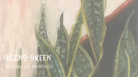 Going Green | Plant paintings | Beverly Gurganus Fine Art