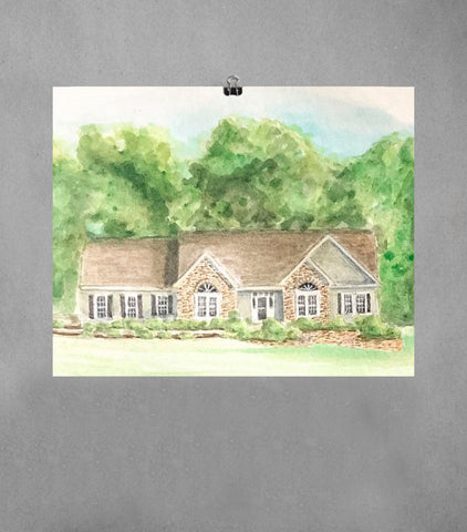 house portrait | Beverly Gurganus Fine Art