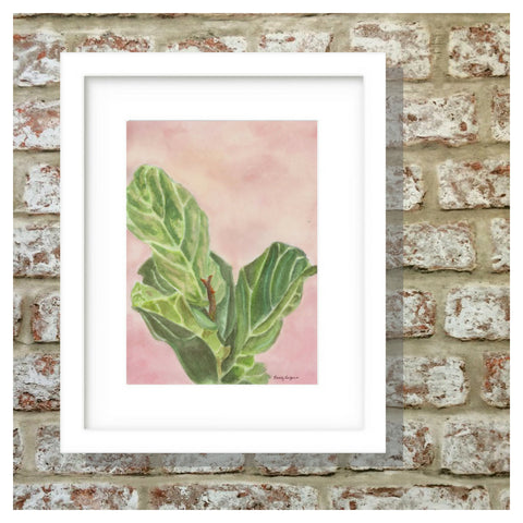 Fiddle Leaf Fig in Pink by Beverly Gurganus