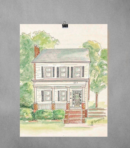 Illustrated House Portrait | Beverly Gurganus Fine Art