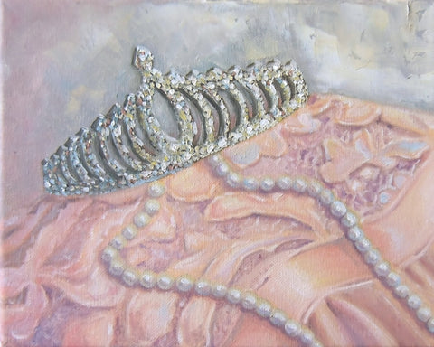 Pearls and Lace oil painting by Beverly Gurganus