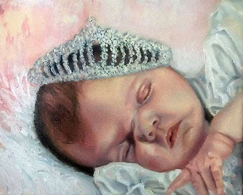 crowned baby portraits by Beverly Gurganus