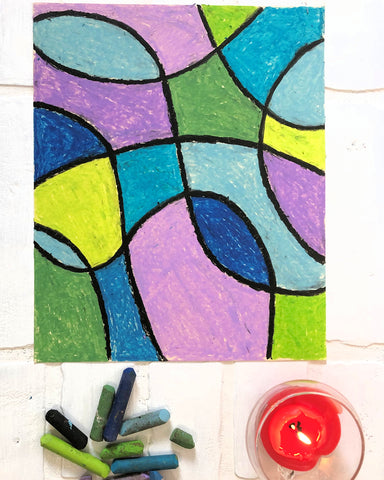 Abstract Colorful Art | Easy Art Lesson for Children | Beverly Gurganus Fine Art