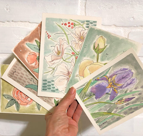 Floral s | mini watercolor paintings | Beverly Gurganus Fine Art