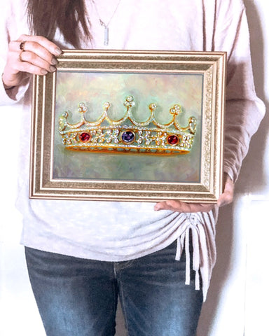 A Mother's Crown custom oil paintings by beverly gurganus