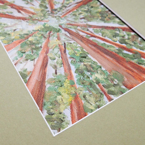 one point perspective trees   Beverly Gurganus Fine Art