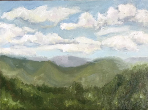 waynesville  north carolina  smokie mountains  plein air  beverly gurganus  oil paint