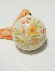 Brisa | hand painted ceramic ornament | Beverly Gurganus Fine Art