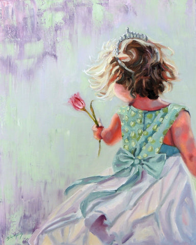 Celeste Sky | 16 x 20 original princess painting by Beverly Gurganus