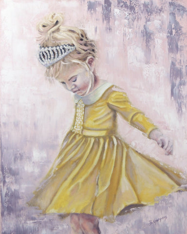Rae Sunshine | 16 x 20 original princess painting by Beverly Gurganus