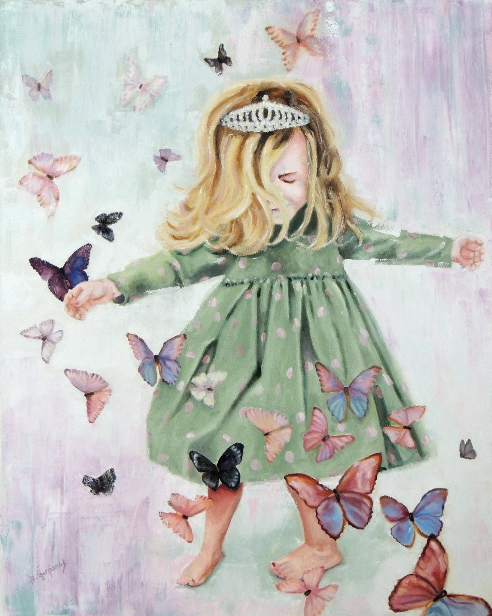 Anastasia Joy | 24 x 30 original princess painting by Beverly Gurganus