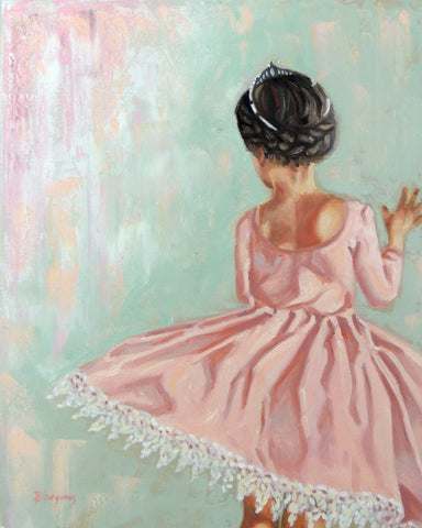 Victoria Grace | 16 x 20 original princess painting by Beverly Gurganus