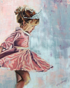 Bella Rose | 16 x 20 original princess painting by Beverly Gurganus
