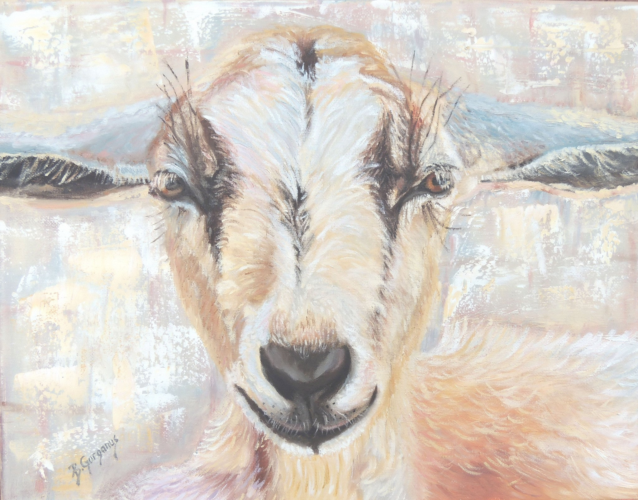 Chevre | original goat painting | Beverly Gurganus Fine Art