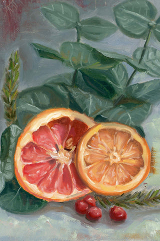 Citrus Christmas | Art Print | Beverly Gurganus Fine Art