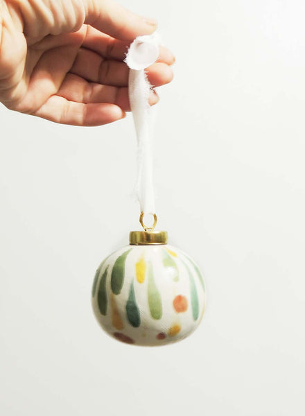 Opal | hand painted ceramic ornament | Beverly Gurganus Fine Art