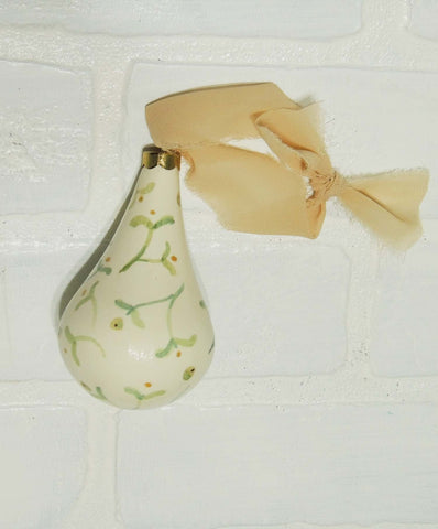 Beulah | hand painted ceramic ornament | Beverly Gurganus Fine Art