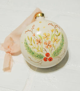Vera | hand painted ceramic ornament | Beverly Gurganus Fine Art
