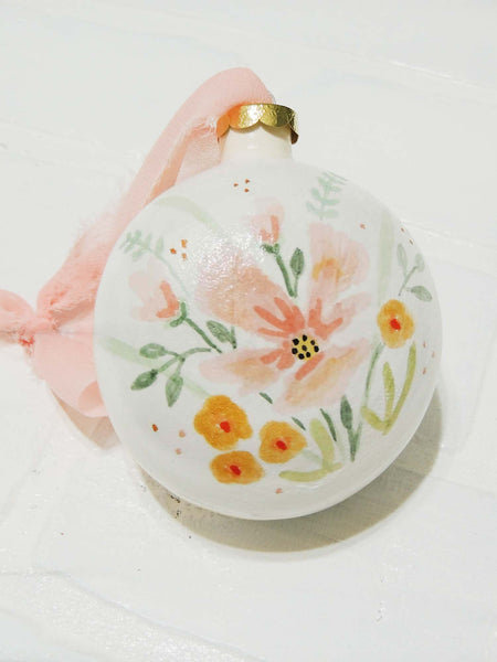 Penelope | hand painted ceramic ornament | Beverly Gurganus Fine Art