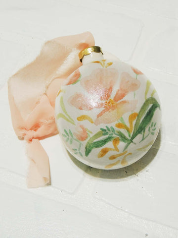 Nora | hand painted ceramic ornament | Beverly Gurganus Fine Art