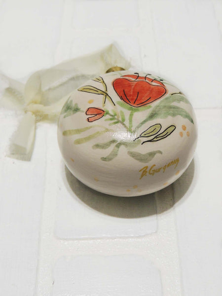 Jules | hand painted ceramic ornament | Beverly Gurganus Fine Art