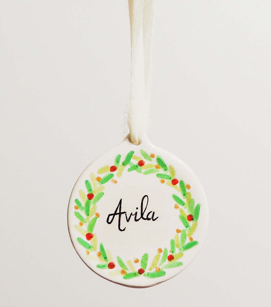 Personalized hand painted ornaments | Beverly Gurganus Fine Art