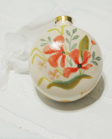 Galena | hand painted ceramic ornament | Beverly Gurganus Fine Art
