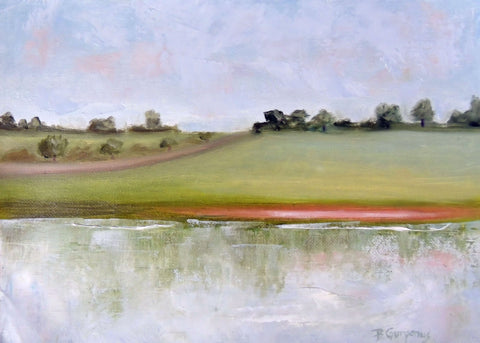Harmonious | lake painting by Beverly Gurganus Fine Art