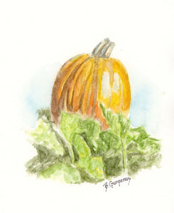 In the Patch | Pumpkin art print | Beverly Gurganus Fine Art