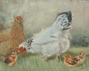 Introductions | chicken painting | Beverly Gurganus Fine Art