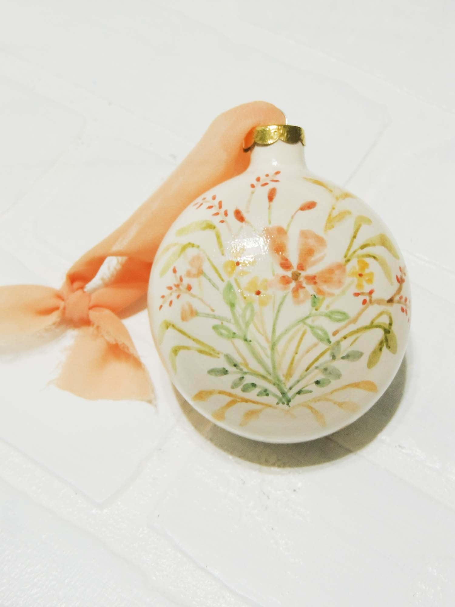 Isla | hand painted ceramic ornament | Beverly Gurganus Fine Art