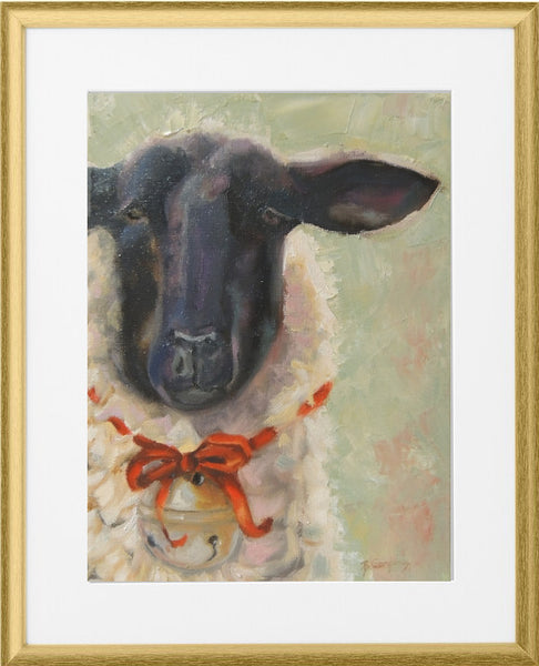 Lovey Lamb | Christmas Lamb art print | Beverly Gurganus Fine Art