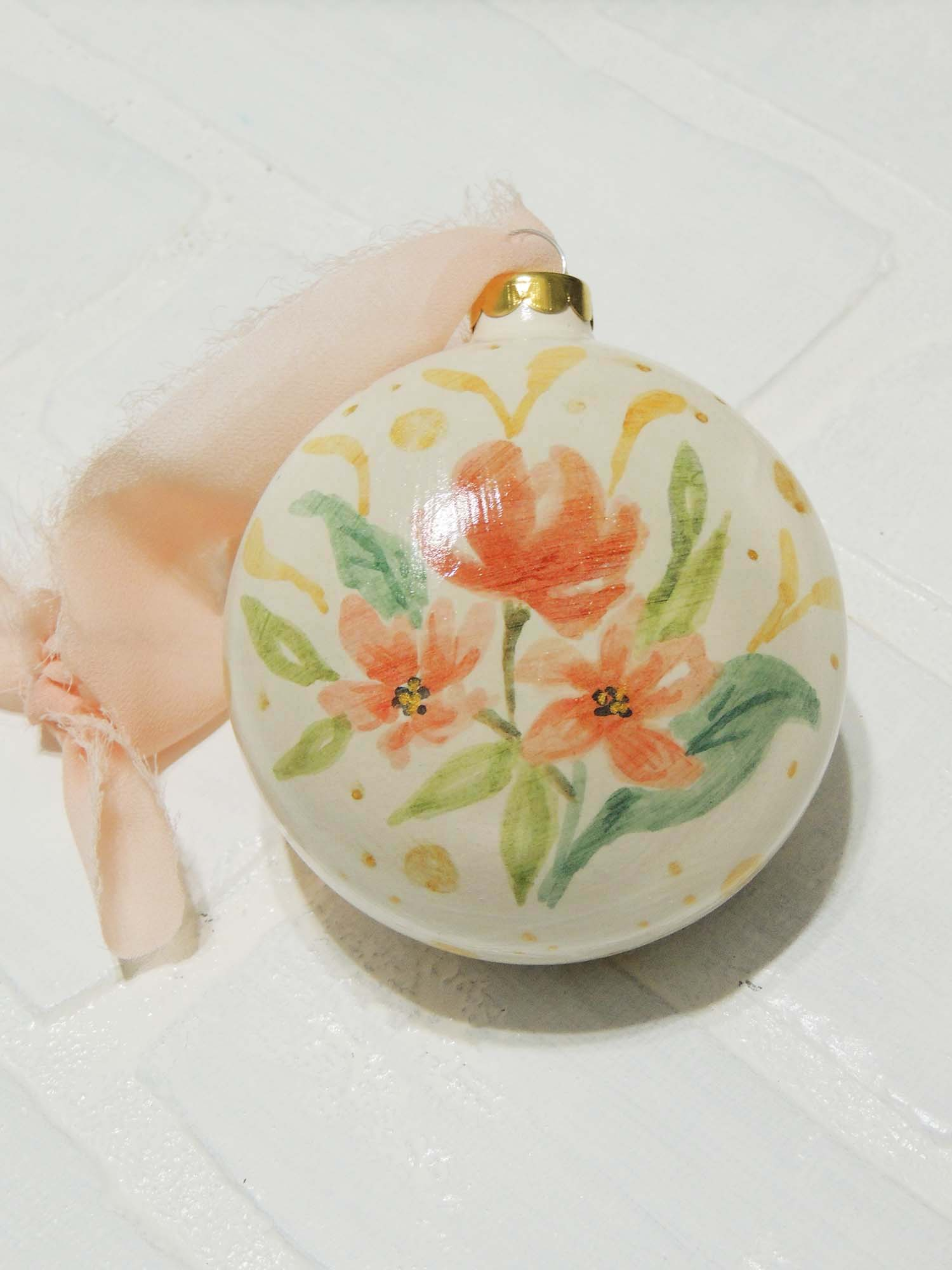Maya | hand painted ceramic ornaments | Beverly Gurganus Fine Art