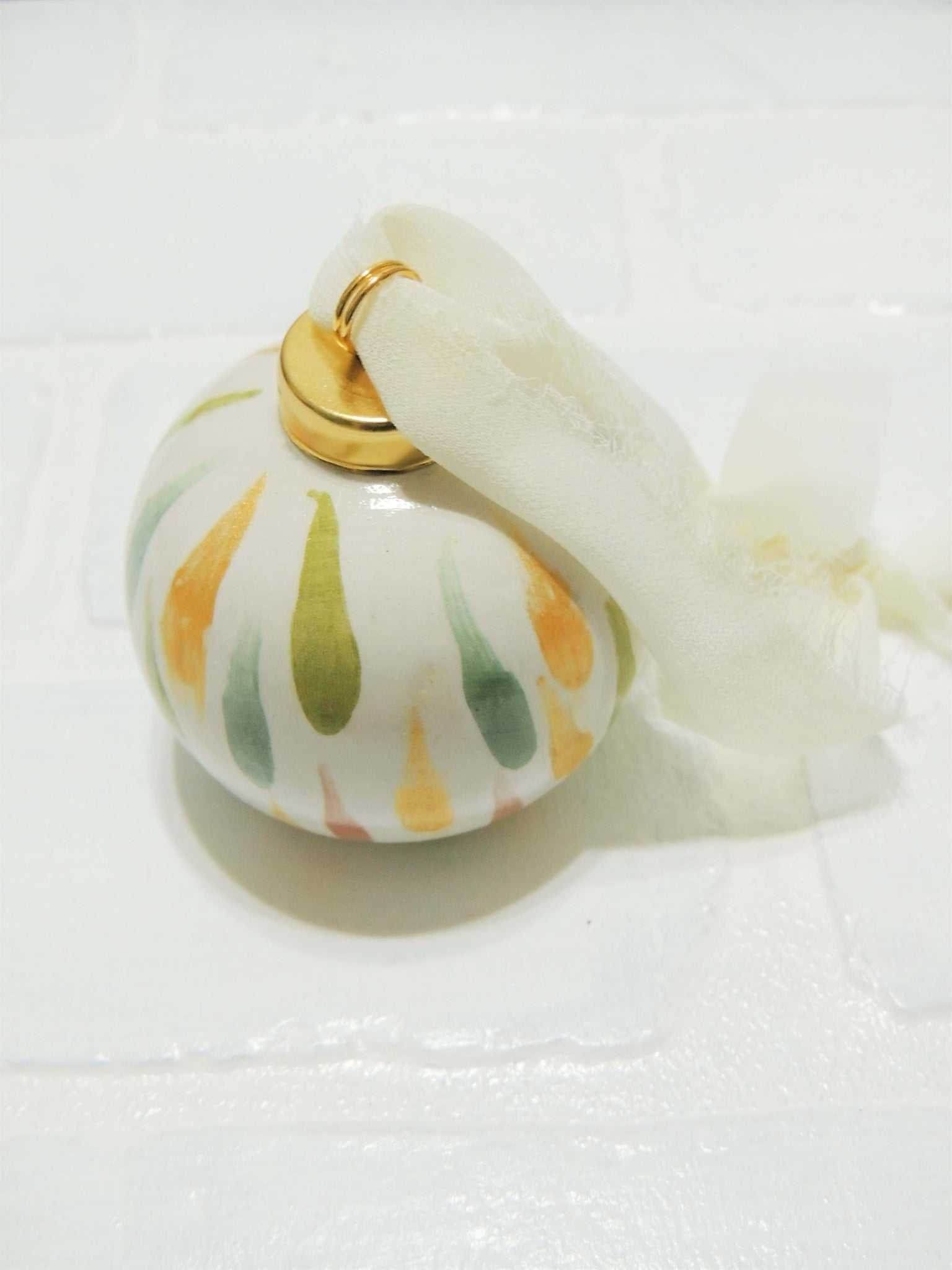 Millie | hand painted ceramic ornament | Beverly Gurganus Fine Art