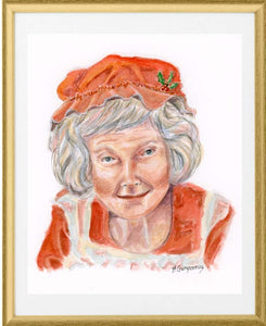 Mrs. Kringle | Christmas art print | Beverly Gurganus Fine Art