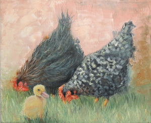 Not My Mother | chicken painting | Beverly Gurganus Fine Art