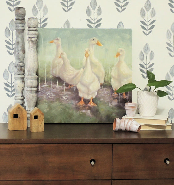 Party of Five | duck painting | Beverly Gurganus Fine Art
