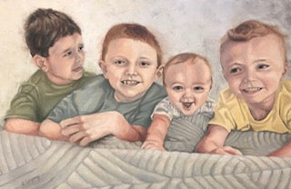 Sanness Boys | Child Portrait in oil | Beverly Gurganus Fine Art