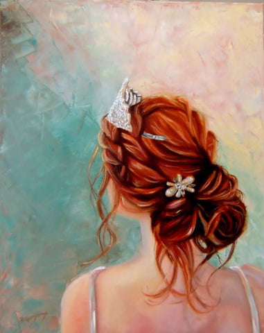 Scarlett Hope | Princess painting by Beverly Gurganus Fine Art