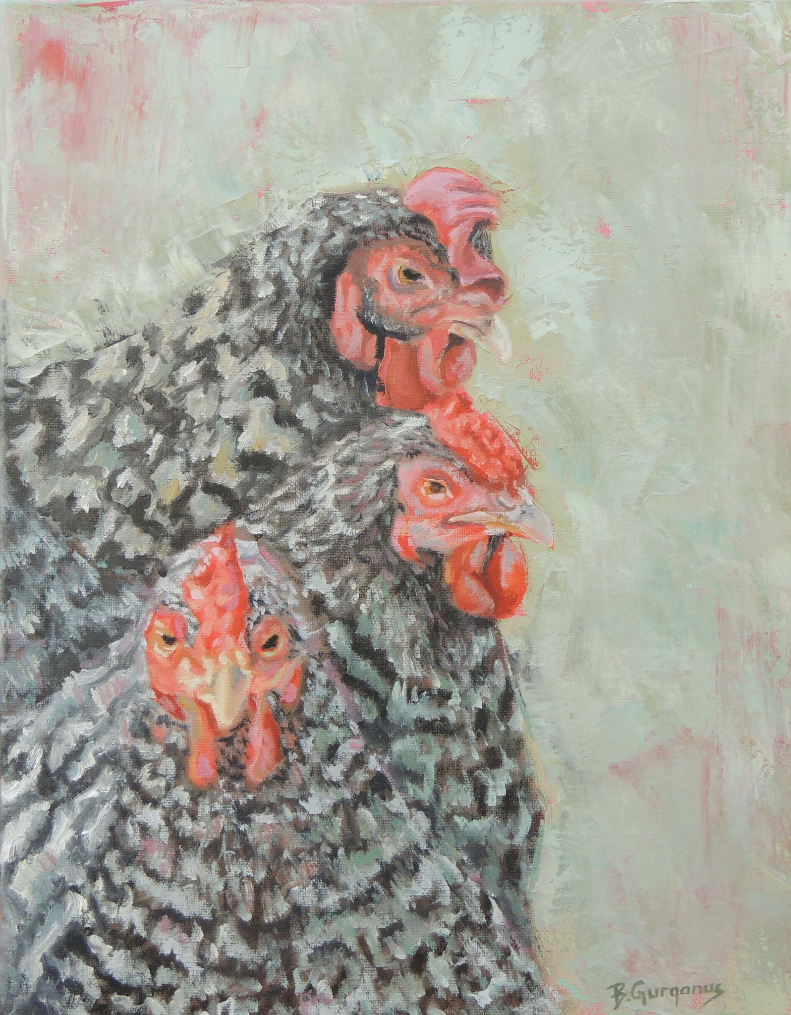 Sisters | Chicken Painting | Beverly Gurganus Fine Art