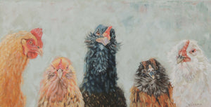 Sunny and the Bearded Ladies | Chicken art print | Beverly Gurganus Fine Art