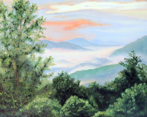 Sunrise in the Smokies | mountain landscape by Beverly Gurganus Fine Art