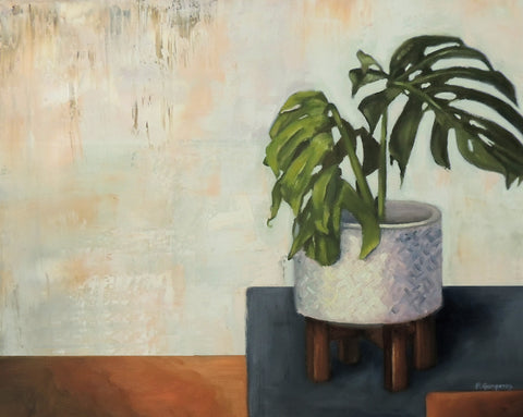 Unity | monstera painting | Beverly Gurganus Fine Art