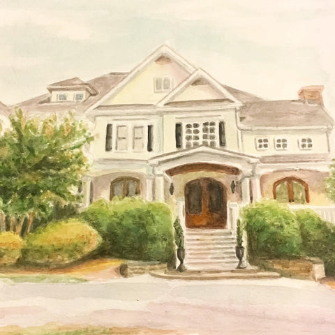House Portraits | Custom watercolor painting | Beverly Gurganus Fine Art
