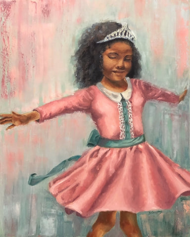 Zoe Love | 16x20 original princess painting by Beverly Gurganus
