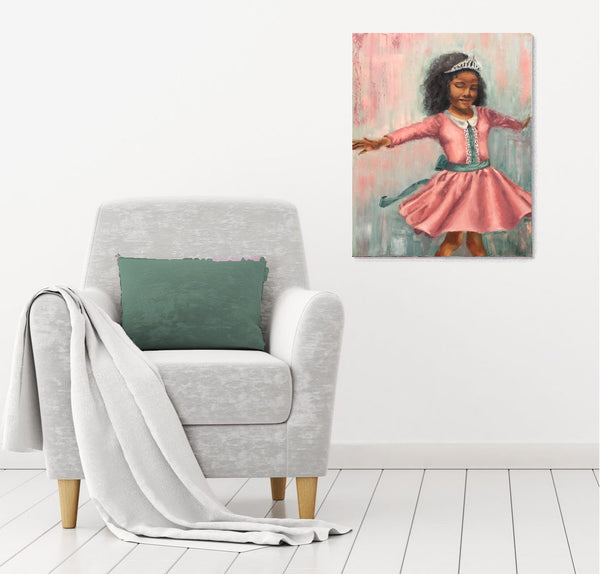 Zoe Love | 16 x 20 original princess painting by Beverly Gurganus