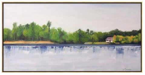 Lake House | lake paintings by Beverly Gurganus