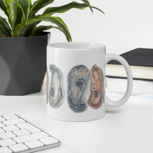 Oysters mug | Beverly Gurganus Art and Home