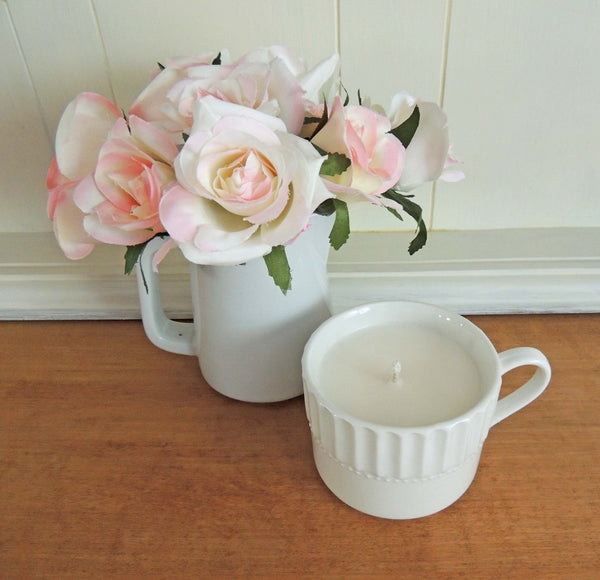 Sea Salt and Orchid Teacup 4 | Hand Poured Soy Candle | Beverly Gurganus Fine Art and Home