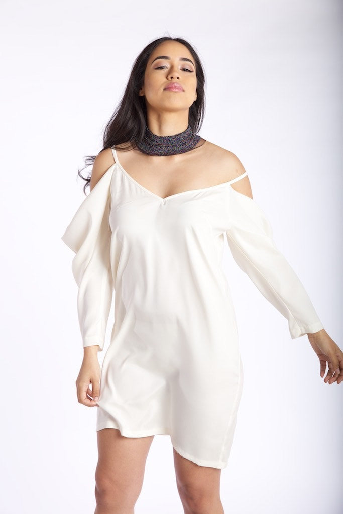 Draped Sleeve Angel Dress